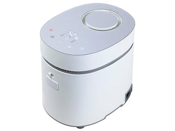 【キャッシュレス 5% 還元】 YAMAZEN 加湿器 Steam CUBE KSF-L301 [加湿タイプ:スチーム式 設置タイプ:据え置き 適用畳数(木造和室):10畳 適用畳数(プレハブ洋室):17畳 タンク容量:3L その他機能:自動運転/チャイルドロック]