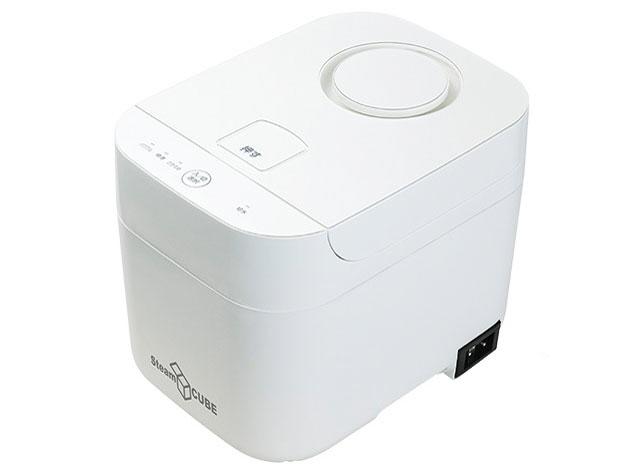 【キャッシュレス 5% 還元】 YAMAZEN 加湿器 Steam CUBE KSF-K282(W) [ホワイト] [加湿タイプ:スチーム式 設置タイプ:据え置き 適用畳数(木造和室):10畳 適用畳数(プレハブ洋室):17畳 タンク容量:2.8L] 【】 【人気】 【売れ筋】【価格】