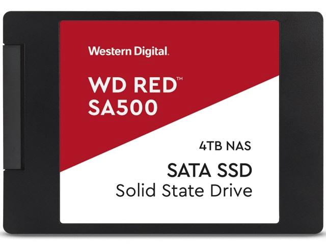 【キャッシュレス 5% 還元】 WESTERN DIGITAL SSD WD Red SA500 NAS SATA WDS400T1R0A [容量:4000GB 規格サイズ:2.5インチ インターフェイス:Serial ATA 6Gb/s タイプ:3D NAND] 【】 【人気】 【売れ筋】【価格】