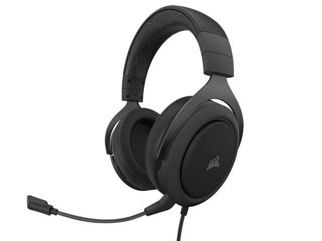 【キャッシュレス 5% 還元】 Corsair ヘッドセット HS60 PRO SURROUND CA-9011213-AP [カーボン] [ヘッドホンタイプ:オーバーヘッド プラグ形状:USB/ミニプラグ 装着タイプ:両耳用 ケーブル長さ:1.8m] 【】 【人気】 【売れ筋】【価格】
