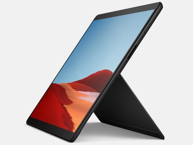 マイクロソフト タブレットPC(端末)・PDA Surface Pro X QFM-00011 SIMフリー [画面サイズ:13インチ 画面解像度:2880x1920 詳細OS種類:Windows 10 Home ネットワーク接続タイプ:SIMフリーモデル ストレージ容量:256GB メモリ:16GB CPU:Microsoft SQ1/3GHz]