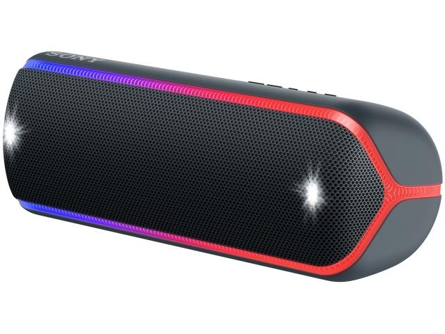 【キャッシュレス 5% 還元】 SONY Bluetoothスピーカー SRS-XB32 (B) [ブラック] [Bluetooth:○ NFC:○ 駆動時間:電池持続時間(Bluetooth接続時):約24時間(Standardモード)/約14時間(EXTRABASSモード)] 【】 【人気】 【売れ筋】【価格】