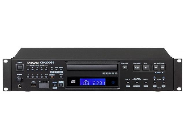【キャッシュレス 5% 還元】 TASCAM CDプレーヤー CD-200SB [周波数特性(最小):20Hz 周波数特性(最大):20KHz MP3:○]  【人気】 【売れ筋】【価格】