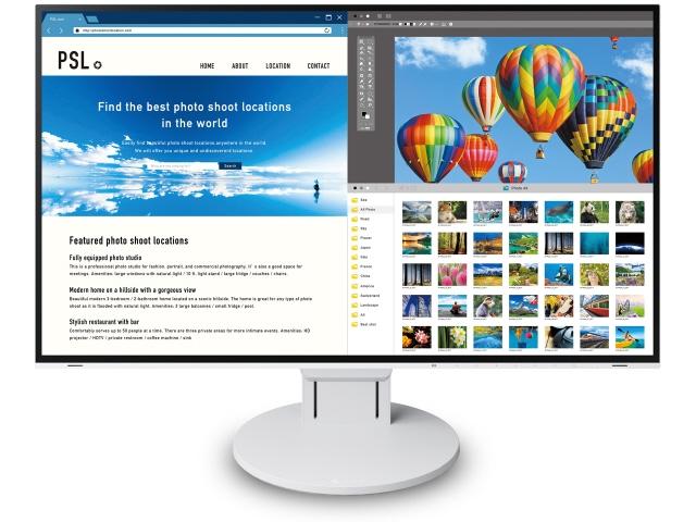 【キャッシュレス 5% 還元】 EIZO 液晶モニタ・液晶ディスプレイ FlexScan EV2785-WT [27インチ ホワイト] [モニタサイズ:27インチ モニタタイプ:ワイド 解像度(規格):4K(3840x2160) 入力端子:HDMIx2/USB Type-Cx1/DisplayPortx1]