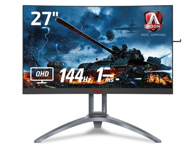 【キャッシュレス 5% 還元】 AOC 液晶モニタ・液晶ディスプレイ AGON AG273QCX/11 [27インチ Black&Red] [モニタサイズ:27インチ モニタタイプ:ワイド 解像度(規格):WQHD(2560x1440) 入力端子:D-Subx1/HDMI2.0x2/DisplayPortx2]