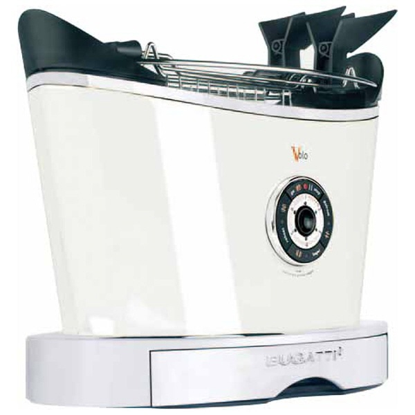 【キャッシュレス 5% 還元】 BUGATTI トースター Volo 13-VOLOC1-JP [ホワイト] [タイプ:ポップアップ 同時トースト数:2枚 消費電力:850W] 【】 【人気】 【売れ筋】【価格】