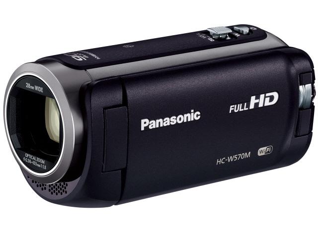 【ポイント5倍】パナソニック ビデオカメラ HC-W570M-K [ブラック] [タイプ:ハンディカメラ 画質:フルハイビジョン 撮影時間:135分 本体重量:268g 撮像素子:MOS 1/5.8型 動画有効画素数:220万画素]  【人気】 【売れ筋】【価格】