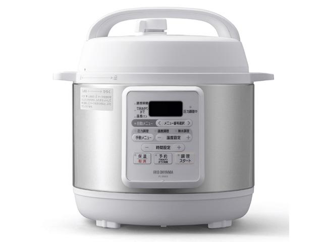 【キャッシュレス 5% 還元】 アイリスオーヤマ 圧力鍋 PC-EMA3 [タイプ:電気圧力鍋 容量:3L 重量:3.7kg] 【】 【人気】 【売れ筋】【価格】