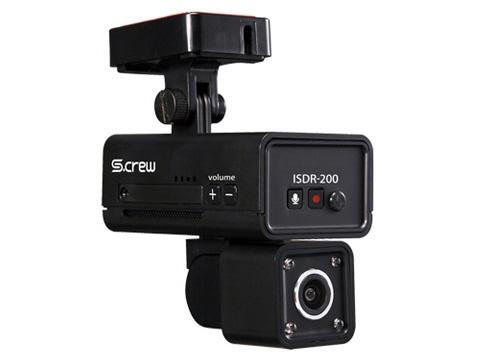 【キャッシュレス 5% 還元】 INBYTE ドライブレコーダー S-CREW ISDR-200 [タイプ:一体型 画素数(フロント):200万画素] 【】 【人気】 【売れ筋】【価格】