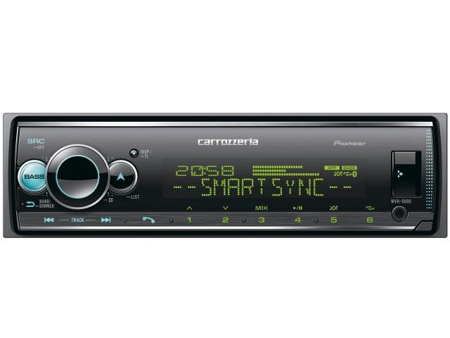 【キャッシュレス 5% 還元】 パイオニア カーオーディオ MVH-6600 [タイプ:プレーヤー 取付形状:1DIN Bluetooth:Bluetooth 4.0 certified 最大出力:50Wx4] 【】 【人気】 【売れ筋】【価格】