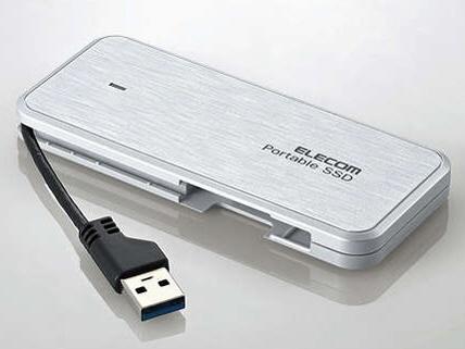 【キャッシュレス 5% 還元】 エレコム SSD ESD-EC0240GWHR [ホワイト] [容量:240GB インターフェイス:USB] 【】 【人気】 【売れ筋】【価格】