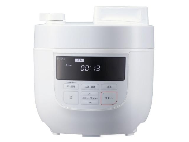 【予約販売品】 【ポイント5倍】シロカ 圧力鍋 SP-4D151 [ホワイト] [タイプ:電気圧力鍋 満水容量:4L 重量:4.4kg]  【人気】 【売れ筋】【価格】, 幌加内町 a93d15c6