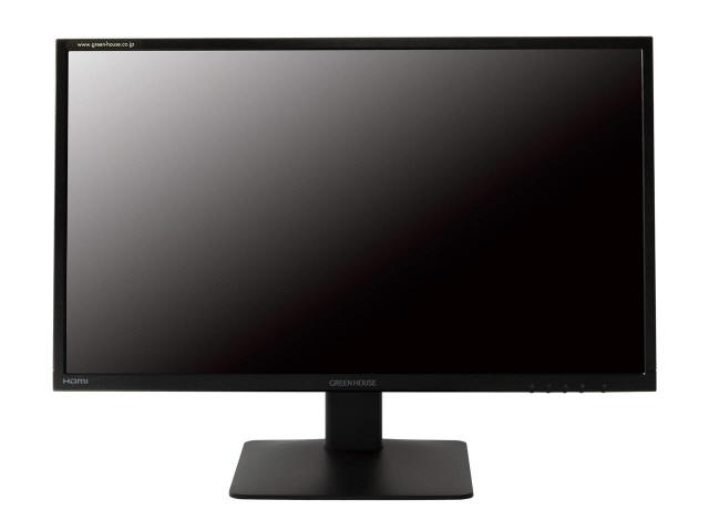 【ポイント5倍】グリーンハウス 液晶モニタ・液晶ディスプレイ GH-LCW24C-BK [23.6インチ ブラック] [モニタサイズ:23.6インチ モニタタイプ:ワイド 解像度(規格):フルHD(1920x1080) 入力端子:D-Subx1/HDMIx1/DisplayPortx1]  【人気】 【売れ筋】【価格】