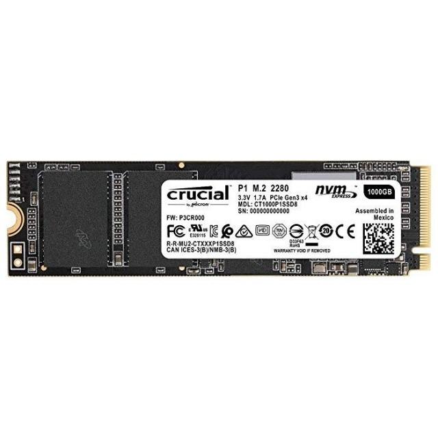 【キャッシュレス 5% 還元】 crucial SSD P1 CT1000P1SSD8 [容量:1000GB 規格サイズ:M.2 (Type2280) インターフェイス:PCI-Express タイプ:3D NAND] 【】 【人気】 【売れ筋】【価格】