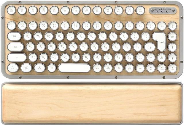 【キャッシュレス 5% 還元】 AZIO キーボード Retro Classic Compact MK-RCK-W-02-JP [メープル] [キーレイアウト:日本語 キースイッチ:メカニカル インターフェイス:USB/Bluetooth]  【人気】 【売れ筋】【価格】