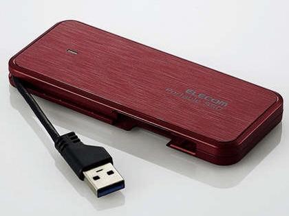 【キャッシュレス 5% 還元】 エレコム SSD ESD-EC0240GRDR [レッド] [容量:240GB インターフェイス:USB] 【】 【人気】 【売れ筋】【価格】