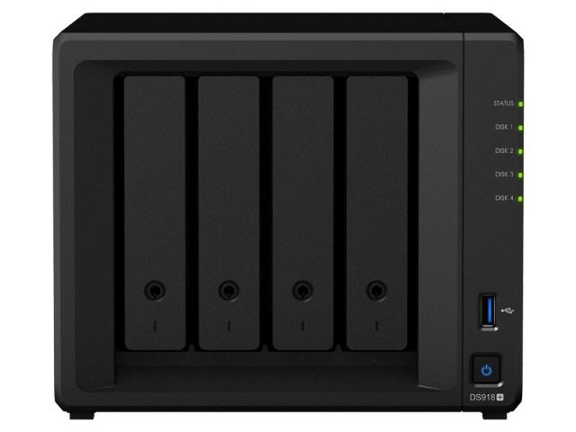 【キャッシュレス 5% 還元】 Synology NAS DiskStation DS918+/JP [ドライブベイ数:HDD/SSDx4、M.2 SSDx2 DLNA:○]  【人気】 【売れ筋】【価格】