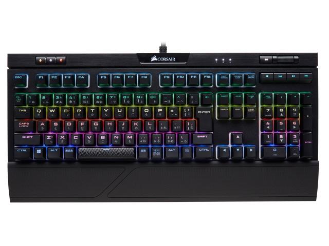 【キャッシュレス 5% 還元】 Corsair キーボード K70 RGB MK.2 RAPIDFIRE MX Speed CH-9109014-JP [ブラック] [キーレイアウト:日本語108 キースイッチ:メカニカル インターフェイス:USB] 【】 【人気】 【売れ筋】【価格】