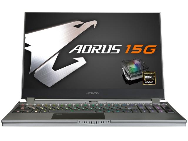 【キャッシュレス 5% 還元】 GIGABYTE ノートパソコン AORUS 15G SB-7JP1130MH [画面サイズ:15.6インチ CPU:第10世代 インテル Core i7 10750H(Comet Lake)/2.6GHz/6コア ストレージ容量:M.2 SSD:512GB メモリ容量:16GB OS:Windows 10 Home]