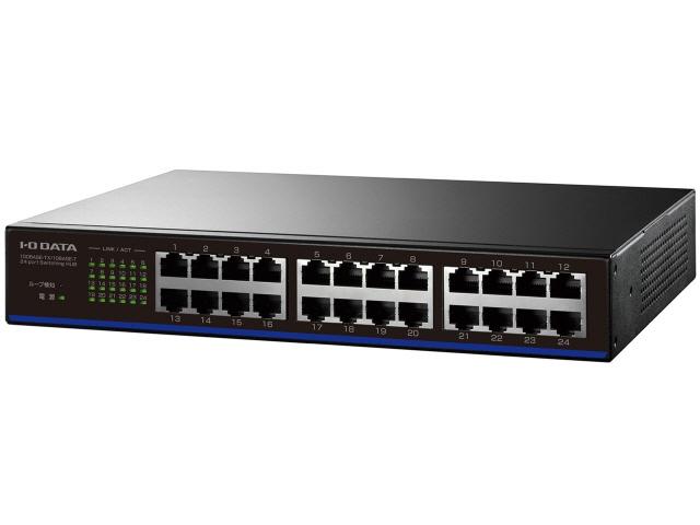 IODATA ネットワークハブ 定番スタイル ETX-ESH24NCK ブラック 転送速度:10BASE-T 10Mbps 売れ筋 ショップ ポート数:24 価格 人気 100Mbps 100BASE-TX