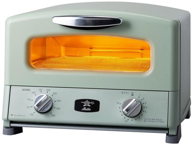 【キャッシュレス 5% 還元】 【ポイント5倍】日本エー・アイ・シー トースター Aladdin AGT-G13A(G) [グリーン] 【4枚焼】 [タイプ:オーブン 同時トースト数:4枚 消費電力:1300W]  【人気】 【売れ筋】【価格】