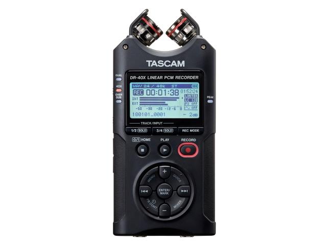 【キャッシュレス 5% 還元】 【ポイント5倍】TASCAM ICレコーダー DR-40X  【人気】 【売れ筋】【価格】