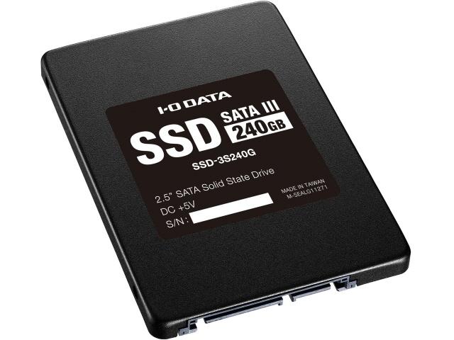 【キャッシュレス 5% 還元】 IODATA SSD SSD-3S240G [容量:240GB 規格サイズ:2.5インチ インターフェイス:Serial ATA 6Gb/s タイプ:MLC] 【】 【人気】 【売れ筋】【価格】
