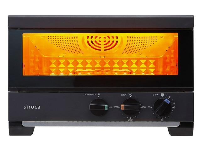 シロカ トースター すばやき ST-4A251 [ブラック] [タイプ:コンベクションオーブン 同時トースト数:4枚 消費電力:1380W]  【人気】 【売れ筋】【価格】