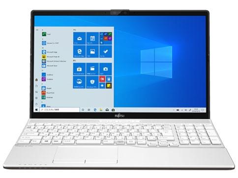 【キャッシュレス 5% 還元】 富士通 ノートパソコン FMV LIFEBOOK AH42/E1 FMVA42E1W1 [プレミアムホワイト] [画面サイズ:15.6インチ CPU:AMD Athlon Gold 3150U/2.4GHz/2コア ストレージ容量:SSD:256GB メモリ容量:4GB OS:Windows 10 Home 64bit]