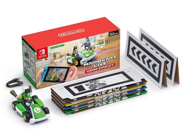 カメラ内蔵のカートと連動する 贈与 マリオカート 任天堂 ゲーム周辺機器 ライブ ホームサーキット 売却 ルイージセット 対応機種:Nintendo Switch Nintendo 売れ筋 人気 価格 タイプ:その他 Lite