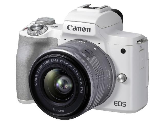 出産祝い CANON デジタル一眼カメラ EOS EOS Kiss M2 EF-M15-45 レンズキット EF-M15-45 IS STM レンズキット [ホワイト] [タイプ:ミラーレス 画素数:2580万画素(総画素)/2410万画素(有効画素) 撮像素子:APS-C/22.3mm×14.9mm/CMOS 重量:351g]【】【人気】【売れ筋】【価格】, 伊勢鳥羽志摩特産横丁:f17e7d47 --- heathtax.com