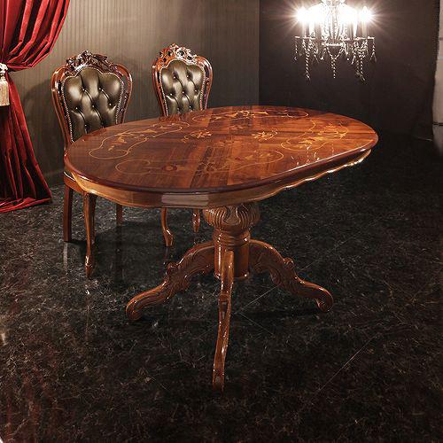 ダイニング テーブル 4人用 ブラウン 幅:100cm~109cm 奥行き:90cm~99cm 高さ:70cm~79cm エレガント カントリー クラシック シンプル ナチュラル フレンチ レトロ ロマンチック 木 楕円型 茶 ダークブラウン 70cm 北欧 アンティーク かわいい おしゃれ クラシック