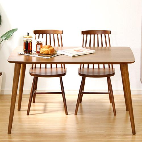 ダイニング テーブル 4人用 ブラウン 幅:120cm~129cm 奥行き:70cm~79cm 高さ:70cm~79cm エレガント カジュアル シンプル ナチュラル ベーシック ラグジュアリー 木 茶 ブラウン 70cm かわいい おしゃれ クラシック ナチュラル 木製
