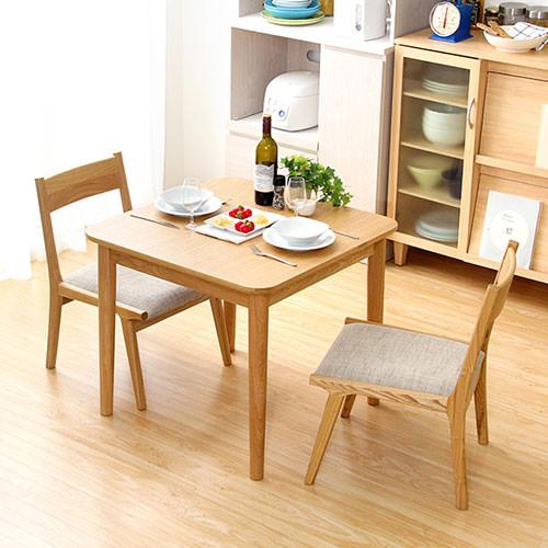 ダイニング テーブル 2人用 ブラウン ベージュ 幅:70cm~79cm 奥行き:70cm~79cm 高さ:60cm~69cm エレガント カジュアル シンプル ナチュラル ベーシック ラグジュアリー 木 茶 ブラウン アイボリー 60cm かわいい おしゃれ クラシック ナチュラル 木製