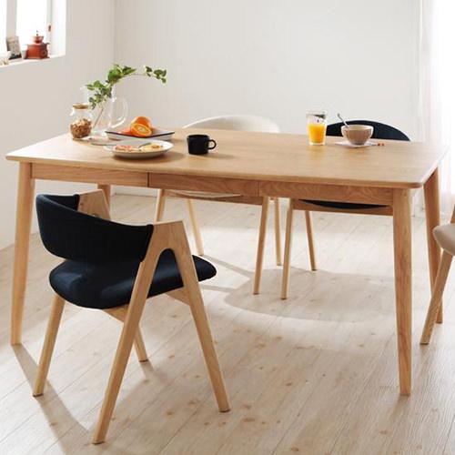 ダイニング テーブル 4人用 ブラウン 幅:150cm~159cm 奥行き:80cm~89cm 高さ:70cm~79cm エレガント カジュアル シンプル ナチュラル ベーシック モダン ラグジュアリー 北欧 木 角型 アイボリー 青 ブルー 70cm かわいい おしゃれ モダン シンプル ナチュラル 北欧