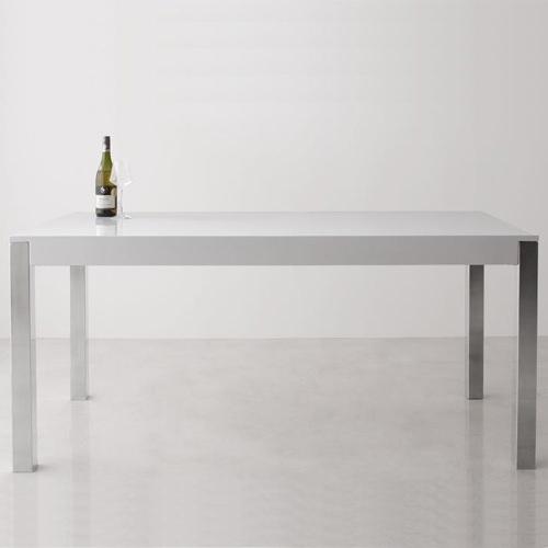 ダイニング テーブル 4人用 ホワイト ブラウン 幅:160cm~169cm 奥行き:70cm~79cm 高さ:70cm~79cm シンプル ベーシック モダン 無地 角型 中国 白 ホワイト 茶 ブラウン モダン おしゃれ クラシック ヴィンテージ シンプル シンプル 来客 スチール