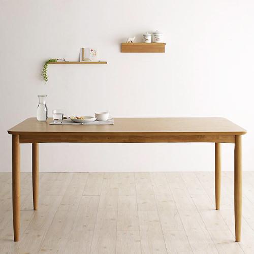 ダイニング テーブル 4人用 ブラウン 幅:150cm~159cm 奥行き:80cm~89cm 高さ:70cm~79cm カントリー クラシック シンプル ベーシック モダン 無地 木 角型 ベトナム 茶 ブラウン 長方形 アンティーク かわいい おしゃれ クラシック モダン シンプル ナチュラル