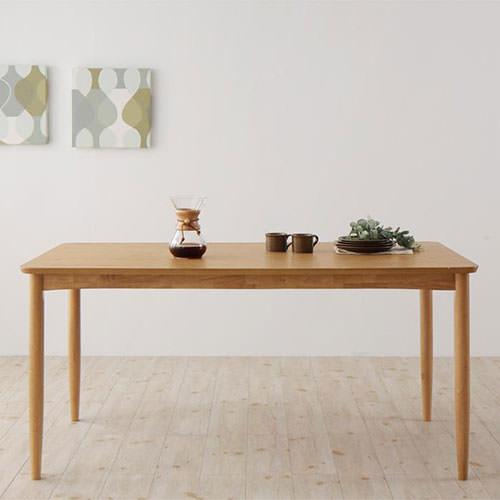 ダイニング テーブル 4人用 ブラウン 幅:150cm~159cm 奥行き:70cm~79cm 高さ:70cm~79cm カジュアル シンプル ベーシック 北欧 無地 木 角型 茶 ブラウン 長方形 かわいい おしゃれ シンプル ナチュラル 北欧 木製
