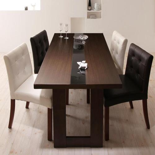 ダイニング テーブル 4人用 ブラウン 幅:150cm~159cm 奥行き:70cm~79cm 高さ:70cm~79cm キャスター無し シンプル ベーシック モダン 無地 木 角型 茶 ブラウン 長方形 モダン おしゃれ クラシック ヴィンテージ シンプル 来客 木製