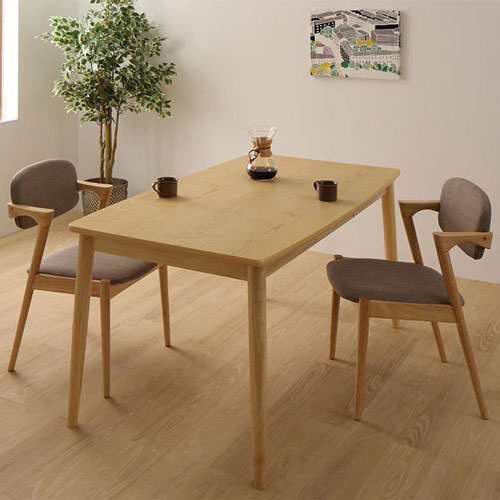 ダイニング テーブル 2人用 ブラウン 幅:150cm~159cm 奥行き:80cm~89cm 高さ:70cm~79cm キャスター無し カントリー クラシック シンプル ベーシック モダン 無地 木 角型 茶 ブラウン 長方形 かわいい おしゃれ クラシック モダン シンプル ナチュラル カントリー 北欧