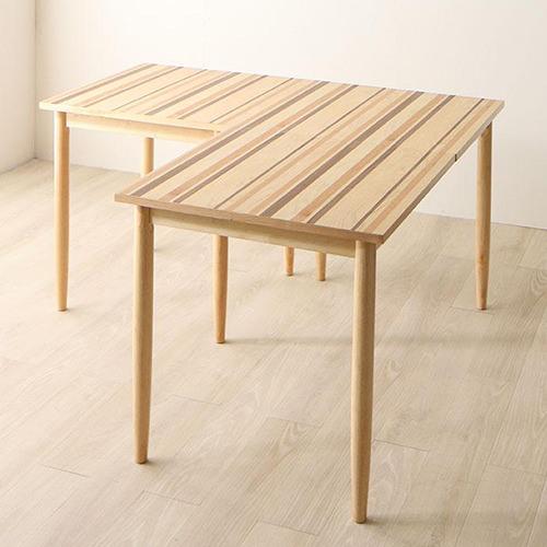 ダイニング テーブル 2人用 ブラウン 幅:70cm~79cm 幅:140cm~149cm 奥行き:70cm~79cm 高さ:70cm~79cm キャスター無し カジュアル シンプル ベーシック 北欧 無地 木 角型 茶 ブラウン 長方形 かわいい おしゃれ シンプル ナチュラル 北欧 木製