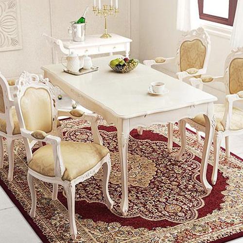 ダイニング テーブル 4人用 ホワイト ブラウン 幅:140cm~149cm 奥行き:80cm~89cm 高さ:70cm~79cm キャスター無し 既成品 カントリー クラシック シンプル ベーシック モダン 無地 木 角型 茶 ブラウン 長方形 アンティーク かわいい おしゃれ クラシック モダン
