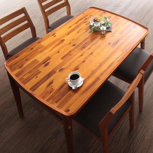 ダイニング テーブル 2人用 ブラウン 幅:80cm~89cm 幅:120cm~129cm 奥行き:80cm~89cm 高さ:70cm~79cm キャスター無し 既成品 クラシック シンプル ナチュラル ベーシック モダン レトロ 無地 木 角型 茶 ブラウン モダン おしゃれ クラシック ヴィンテージ シンプル