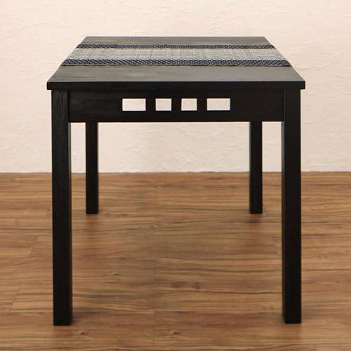 ダイニング テーブル 2人用 ブラウン 幅:70cm~79cm 幅:120cm~129cm 幅:150cm~159cm 奥行き:70cm~79cm 高さ:70cm~79cm キャスター無し 既成品 アジアン シンプル トロピカル ナチュラル ロマンチック 無地 木 角型 茶 ダークブラウン 長方形 モダン かわいい
