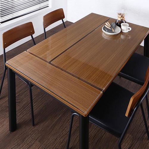 ダイニング テーブル 4人用 ブラウン 幅:130cm~139cm 奥行き:80cm~89cm 高さ:70cm~79cm キャスター無し 既成品 クラシック シンプル ナチュラル ベーシック モダン 無地 ガラス・クリスタル 角型 茶 ブラウン 長方形 ナチュラル モダン おしゃれ クラシック
