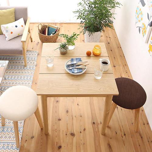 ダイニング テーブル 2人用 ホワイト ブラウン 幅:60cm~69cm 奥行き:60cm~69cm 高さ:70cm~79cm キャスター無し 既成品 クラシック シンプル デザイナーズ ナチュラル ベーシック モダン 無地 木 角型 茶 ブラウン 長方形 モダン かわいい おしゃれ クラシック カフェ