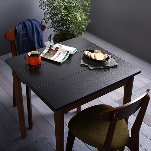 ダイニング テーブル 2人用 ブラック ブラウン 幅:60cm~69cm 奥行き:60cm~69cm 高さ:70cm~79cm キャスター無し 既成品 クラシック シンプル ナチュラル ベーシック モダン レトロ 無地 木 角型 茶 ブラウン 黒 ブラック 長方形 アンティーク モダン かわいい おしゃれ