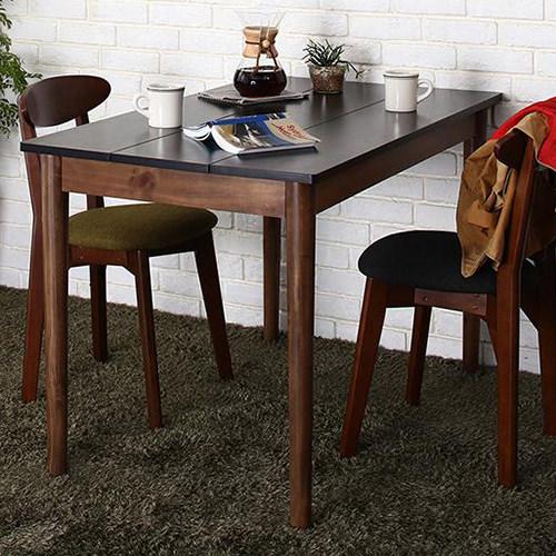 ダイニング テーブル 4人用 ブラック ブラウン 幅:110cm~119cm 奥行き:60cm~69cm 高さ:70cm~79cm キャスター無し 既成品 クラシック シンプル ナチュラル ベーシック モダン レトロ 無地 木 角型 茶 ブラウン 黒 ブラック 長方形 アンティーク モダン かわいい