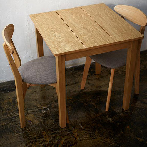ダイニング テーブル 2人用 ホワイト ブラウン 幅:60cm~69cm 奥行き:60cm~69cm 高さ:70cm~79cm キャスター無し 既成品 カジュアル シンプル ベーシック 北欧 無地 木 角型 茶 ブラウン 白 ホワイト 70cm 正方形 かわいい おしゃれ シンプル ナチュラル カフェ 北欧