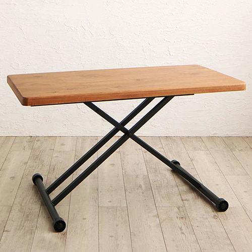 ダイニング テーブル 2人用 ブラウン 幅:120cm~129cm 奥行き:60cm~69cm 高さ:20cm~29cm 高さ:30cm~39cm 高さ:40cm~49cm 高さ:50cm~59cm 高さ:60cm~69cm 高さ:70cm~79cm キャスター無し 伸縮機能付き 既成品 カントリー クラシック シンプル ベーシック